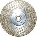 Диск алмазный M/F ф125хM14, с фланцем, для резки/шлифовки мрамора