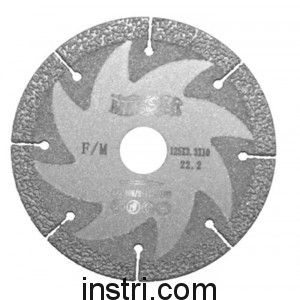 Диск алмазный F/M ф125х22,2 мм, для резки и шлифовки металла