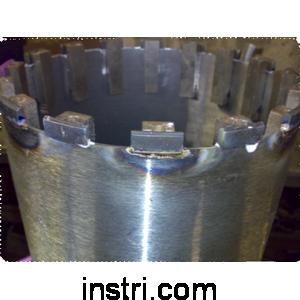 Восстановление алмазной коронки ф 036 мм, 5 сегм.